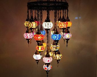 Mosaic Pendant Lamp 8 Color Option Turkish Ceiling Light Mosaic Lamp Grand Mosaic Lamp Tiffany Pendant Lamp Moroccan Hanging Lamp In 2020 Mosaic Lamp Turkish Mosaic Lamp Single Pendant Lighting