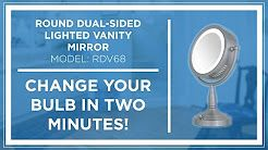 Bulb In Conair Lighted Makeup Mirror, How To Change A Lightbulb In Conair Mirror