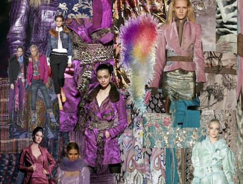 purple fashion mood board