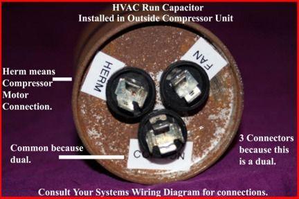 air conditioner capacitor wiring diagram  air conditioner
