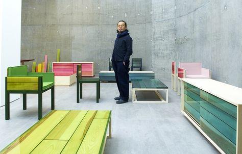 Categoria Mobiliário, nomeada com a palavra japonesa que significa cor, Iro foi criada por Jo Nagasaka para ser uma coleção minimalista e é feita de madeira e resina