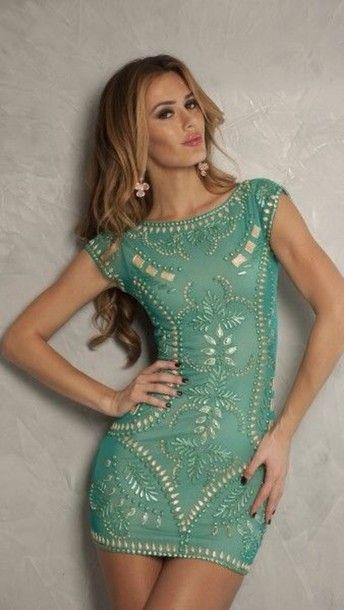 Super Sexy Mint Green Meital Dress in Jade!