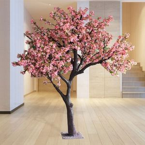 Source Y6 High Quality Artificial Cherry Blossom Tree Artificial Plant And Tree Fake Artificial Cherry Blossom Tree Pink Blossom Tree Japanese Cherry Tree