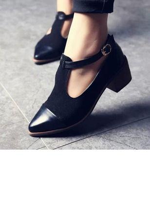 mayor selección de precio más bajo con predominante Zapatos Salón De mujer Salón Cerrados Cuero Tacón bajo ...