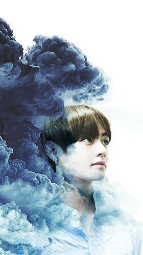 Taehyung Bts V Wallpaper Background Cute Blue Smoke Cloud White Samsung Android Iphone Smoke Cloud Wallpaper Backgrounds Taehyung