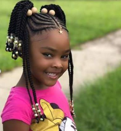 Toddler Braided Hairstyles With Beads Hairstyles Haircuts For African American Toddler Braided Hairstyles Girls Hairstyles Braids Kids Braided Hairstyles