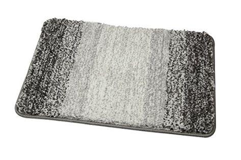Bath Mat,Famibay High Density Microfiber Bath Rug For Bathroom High Density Microfiber  Kitchen Mat Machine Washable Shower Carpet(19.7x31.5 Inch,Grey)