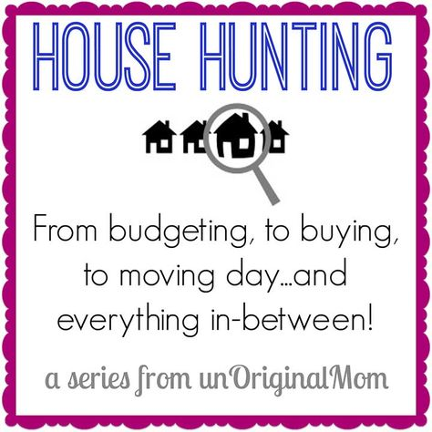 Very thorough and helpful series on house hunting - tips on things to do before you start, during the process, staging tips, and moving tips.
