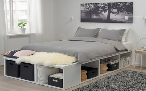 DIY Bed frame with storage - Inspired by IKEA'S Platsa Model - Digital Furniture Plans