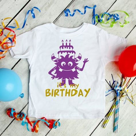 Its My Birthday SVG EPS DXF Cute Monster Svg