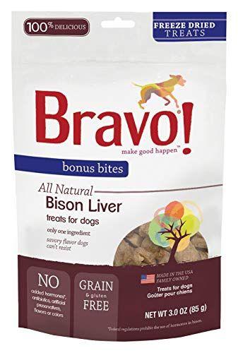 Bravo Bonus Bites All Natural Freeze Dried Bison Liver Dog Treats Grain Gluten Free 3 Ounce Bags Liver Dog Treats Raw Cat Food Diet Homemade Raw Cat Food