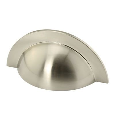64mm hole centres FTD555SN Satin Nickel Traditional Cup Handle