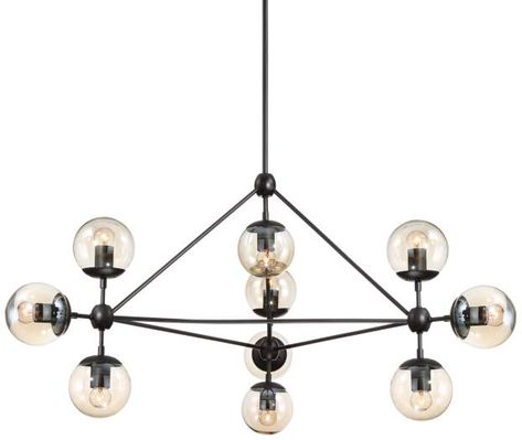 Modern Pyramid Glass Globes Chandelier