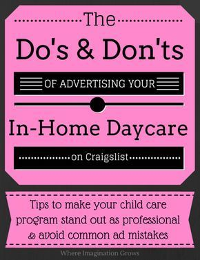 Advertising Your Family Home Child Care Program Don T Forget To
