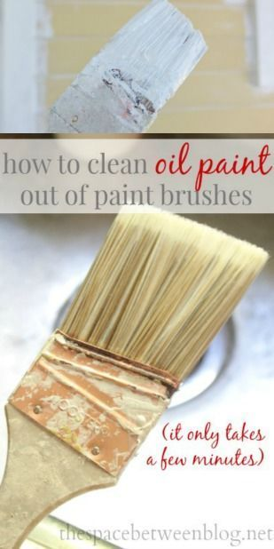 How To Clean Oil Based Paint Out Of Your Paint Brush With Images Cleaning Paint Brushes Paint Brushes Oil Paint Brushes