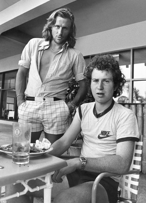 Strange to think as a teenager that my sister and I watched professional tennis all the time. It was for the tennis mind you! It was because of Bjorn Borg even if his shorts and shirt don't match!
