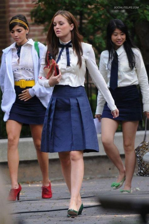 Blair Waldorf (Leighton Meester) looks the preppy part once again in this photo from the upcoming second season of Gossip Girl.