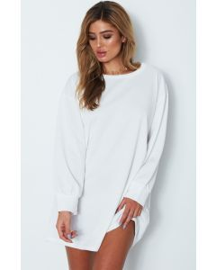best online real deal lovely luster Wild Thoughts Jumper Dress White | sporty luxe | Jumper ...