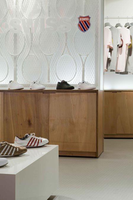 K Swiss Flagship Store Love The White Racket Wall Fashion Retail