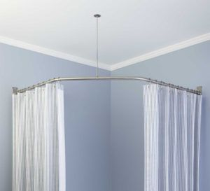 Curved Shower Curtain Rods Bed Bath Beyond With Images Round