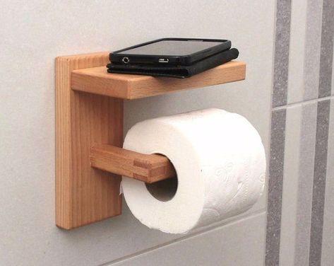 Wood Toilet Paper Holder Toilet Roll Holder Beech Minimal | Etsy #Bathroomthemes