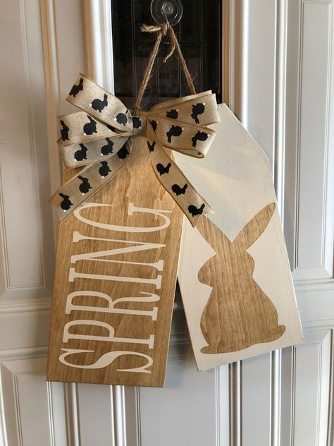 Wooden Door Tag Hanger | Etsy