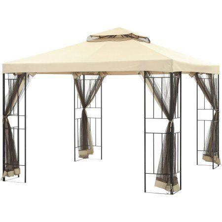 Mainstays Cabin Garden House 10 X 10 Gazebo Walmart Com Gazebo Patio Canopy Canopy Outdoor