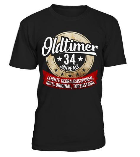 Zum 34 Geburtstag Oldtimer 34 Jahre Shirts Shirtsfurbruder