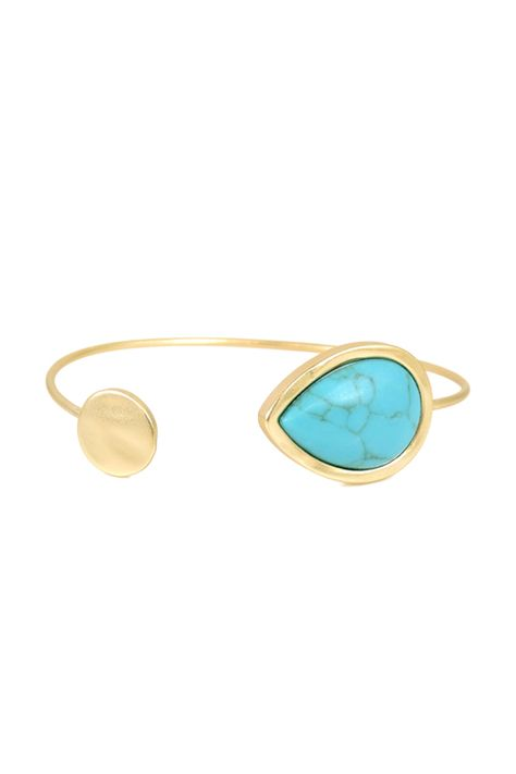 gold + turquoise