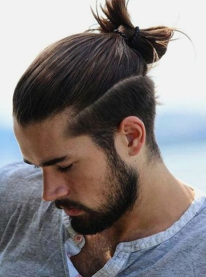Long Hairstyles For Boys Ponytail men