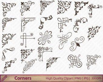 Text Dividerscalligraphy Clip Art Digital Clipartclipart Etsy Clip Art Clip Art Borders Digital Clip Art