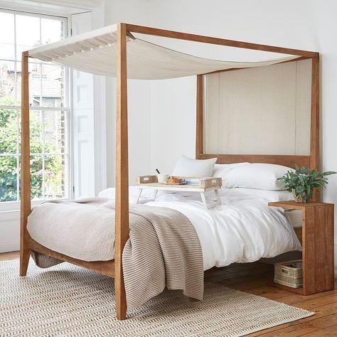 19 Beautiful Four Poster Beds Interiordesignshome Com Bedroom