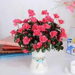 Our Beautiful Colourful Silk Azalea Bouquets Make A Stunning Gift Or Addition To Your Home Decor The Artificial Flowers Azalea Flower Home Wedding Decorations
