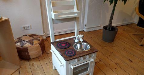 Ikeaivar Kinder Spiel Küche Aus Einem Stuhl Hack Kinderküche