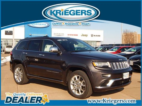 New 2015 Jeep Grand Cherokee Summit For Sale In Muscatine Krieger Motor Company Muscatine Iowa 1c4rjfjg2fc234439 Jeep Grand Cherokee Jeep Muscatine Iowa