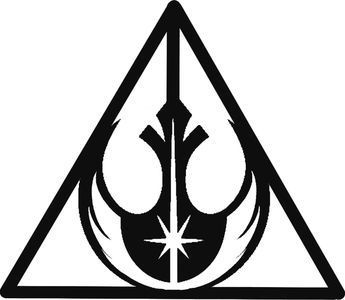 The deathly rebel jedi   star wars   jedi counsel   rebel alliance   deathly hallows   harry potter   #starwarstattoo