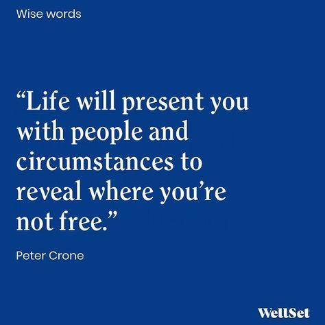 Peter Crone via WellSet #selfcare #selflove #wellness #raiseyourvibration #healing #spiritjourney #quote