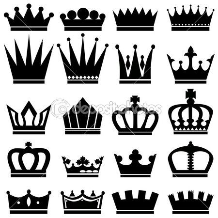 Line designs for creating royal felt crowns Crown template - crown template