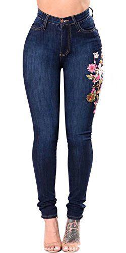 WSPLYSPJY Womens Butt Lift Stretch Skinny Jeans Distressed Denim Pants