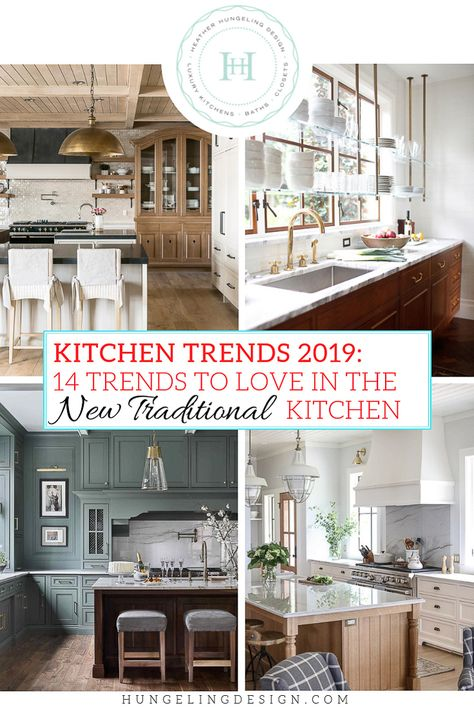 If you love the warmth of traditional kitchens but have also found yourself craving clean lines and simplicity, then this is the year for you! Kitchen trends in 2019 will be all about that masterful mix that we call the  New Traditional . #kitchentrends, #luxurykitchens, #kitchendesignideas