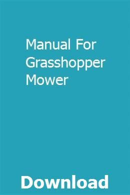 Manual For Grasshopper Mower Repair Manuals Manual Honda Civic