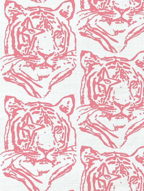 Pink Aesthetic Discover Aimée Wilder Designer Wallpaper Fabrics Rugs Textiles Made in USA tiger fabric in coral by ivana helsinki Collage Des Photos, Collage Foto, Art Du Collage, Photo Wall Collage, Cute Backgrounds, Cute Wallpapers, Bedroom Wall Collage, Wall Art, Reproductions Murales