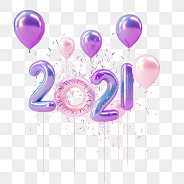 2021 Purple Balloon Word 3d Element 2021 New Year S Eve Balloons Png Transparent Clipart Image And Psd File For Free Download Purple Balloons Balloon Words Happy New Year Fireworks