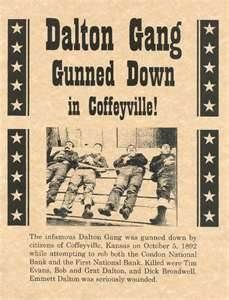 Old West Wanted Posters  the Dalton gang