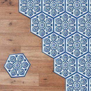 Stick On Peel Stick Tiles Self Adhesive Tiles You Ll Love Wayfair Co Uk Mosaic Tiles Hexagon Tile Floor Sticker Decor