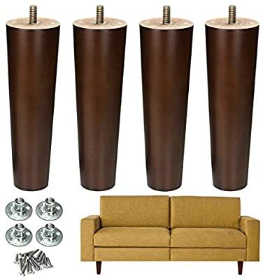 Aoryvic Furniture Legs Wood Sofa Legs Replacement Legs For Cabinet Vanity Couch Chair Dresser Pack Of 4 6 Inch A In 2020 Furniture Legs Colorful Chairs Sofa Legs