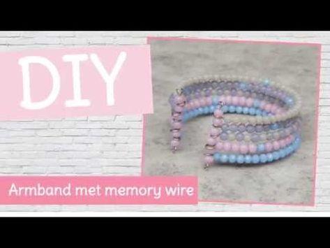 #DIY #sieraden #tutioral met #Kralenhoekje - Maak een #armband met #memory #wire ! Leer een nieuwe #techniek met memory wire!  Natuurlijk kun je totaal je eigen draai hieraan geven!