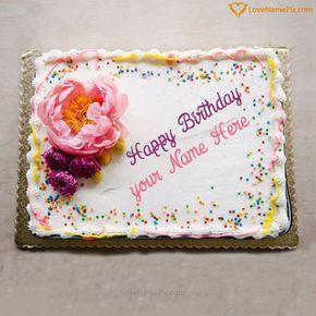 Superb Edit Birthday Cake Generator With Name Photo Happy Birthday Personalised Birthday Cards Veneteletsinfo