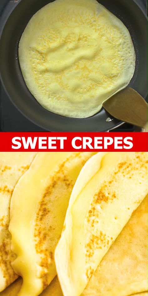 This is a simple, foolproof, and tasty Sweet Crepes recipe. Follow my step-by-step photos or video instructions to make this scrumptious treat at home. FOLLOW Cooktoria for more deliciousness! #crepes #pancakes #breakfast #brunch #dessert #sweet #yummy #cooktoria