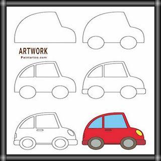 رسومات اطفال سهلة بسيطة تعليم الرسم للأطفال سيارة للتلوين Easy Drawings Mario Characters Character